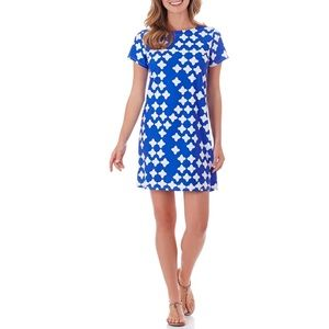NWT Jude Connally Ella Dress Tossed Star blue